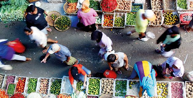 Markkinat Etelä-Jakartassa