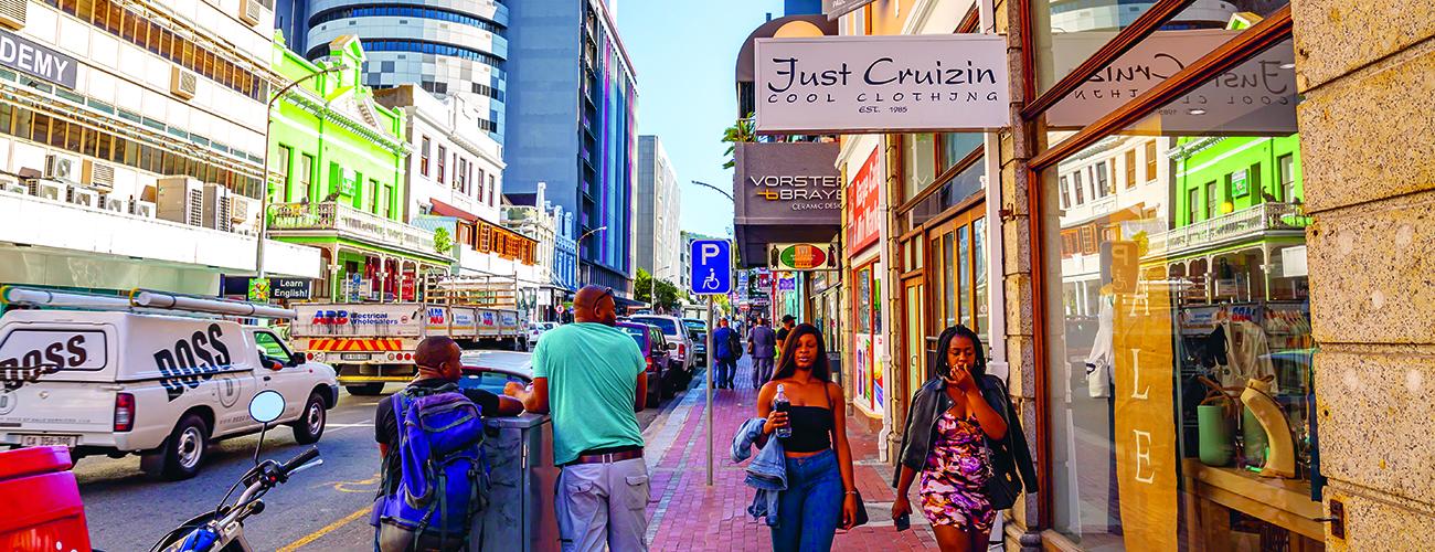 Katunäkymä Kapkaupungissa Etelä-Afrikassa